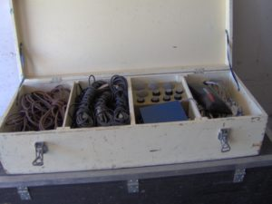 Lådan kallade vi för liket och innehöll många sladdar att laga